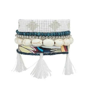 Victoria Emerson Drerovou Boho Cuff Bracelet NWT